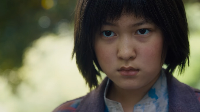 Ahn Seo-hyun gives an Oscar winning performance. Okja. Image Credit: Netflix.