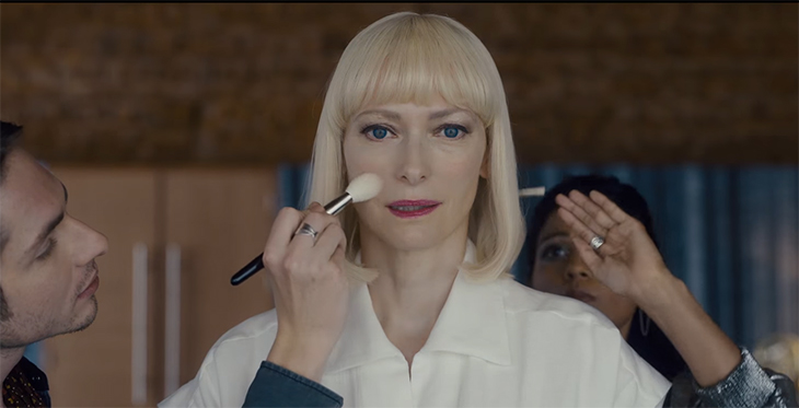 Tilda Swinton is at the top of her game with this performance. Okja. Image Credit: Netflix.