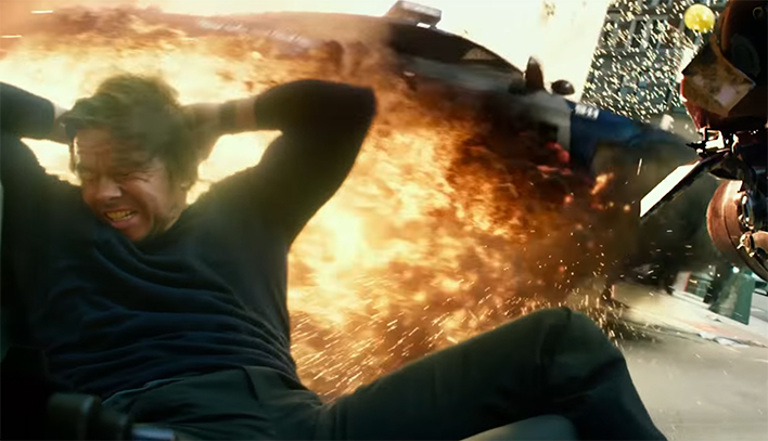 Michael Bay does love his explosions, and there are a lot of them. Transformers The Last Knight. Image Credit: Paramount.