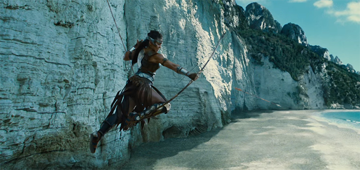 The action sequences are wonderfully constructed. Wonder Woman (2017). Image Credit: Warner Bros.