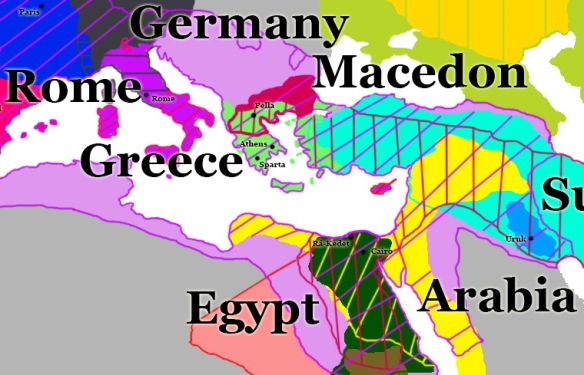 You might be just lines, but we still love you Macedon, well until you arrive on our boarders with a Calvary charge.