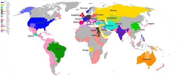 Civilization Nations Map