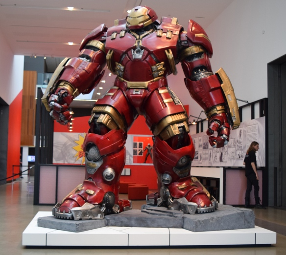 Iron Man protecting the comic creation centre
