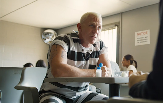 I'm not sure what Daniel Craig was playing, but he was playing the heck out of it. Logan Lucky. Image Credit: Bleecker Street.