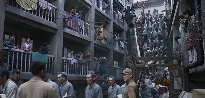 The sets are truly amazing in their scope. The Battleship Island. Image Credit: CJ Entertainment.
