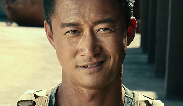 Wu Jing has a lot of charisma that feels wasted here. Wolf Warriors 2 (Zhan Lang 2, 战狼2). Image Credit: Well Go.