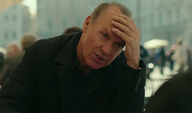 Michael Keaton just looks bored during most of the film. American Assassin. Image Credit: Lionsgate.