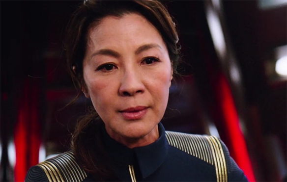 Michelle Yeoh brings an amazing touch to the role of Captain Philippa Georgiou