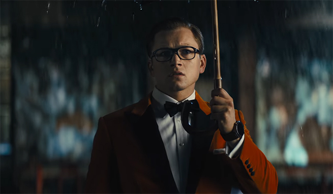 Taron Egerton is amazing in this second outing. Kingsman The Golden Circle. Image Credit: 20th Century Fox.