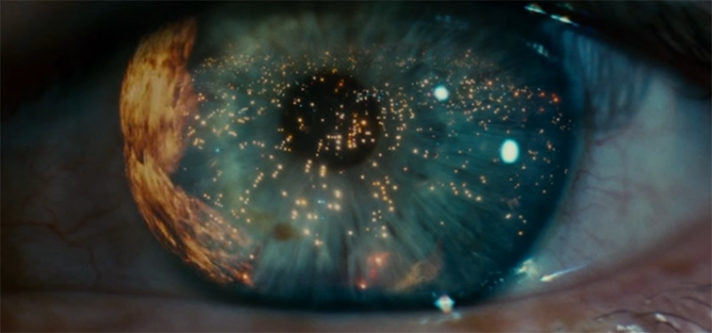 The eyes, windows to the soul. Blade Runner. Image Credit: Warner Bros.