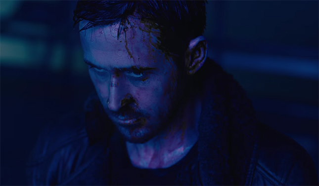 Ryan Gosling gives a command performance as K. Blade Runner 2049. Image Credit: Warner Bros.