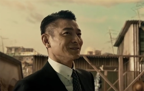 Andy Lau has a lot of charisma that really helps here