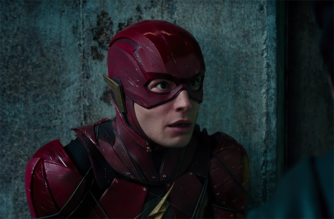 One of the best additions to the film is Ezra Miller's The Flash. Justice League. Image Credit: Warner Bros.