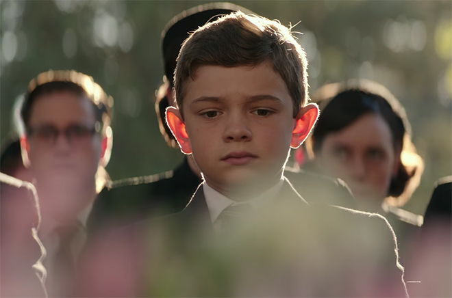 One of the few highlights of the film was Noah Jupe's performance. Suburbicon. Image Credit: Paramount.