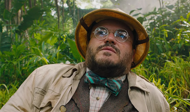 Jack Black playing Bethany is a joke that should have run out of steam, but it just works. Jumanji Welcome to the Jungle. Image Credit: Sony.