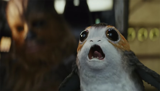 #TeamPorg all the way. Star Wars The Last Jedi. Image Credit: Disney/Lucasarts.