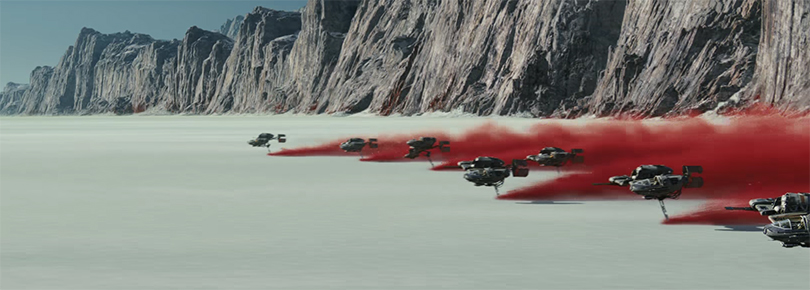 The visuals in this film are exquisite. Star Wars The Last Jedi. Image Credit: Disney/Lucasarts.