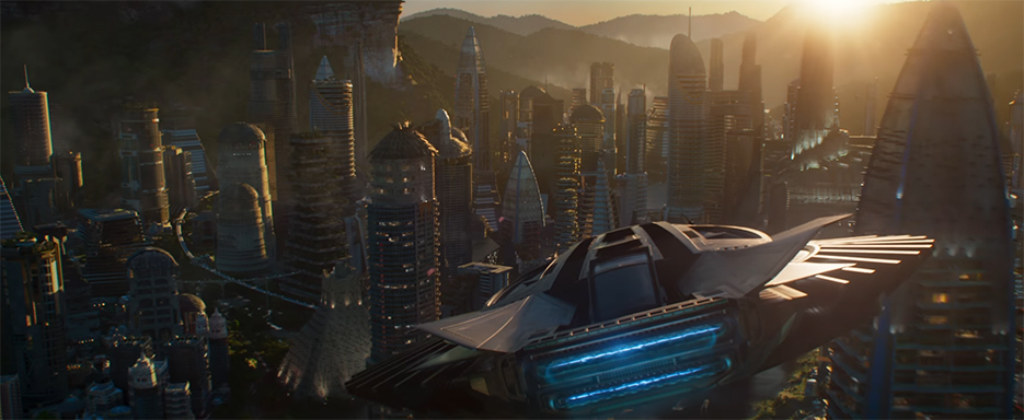 The world of Wakanda is beautiful combing the old and new into something grand