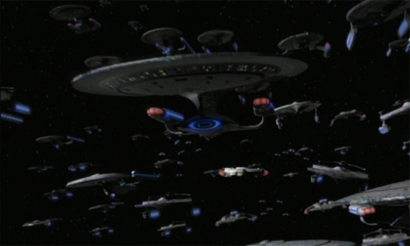 """... all other ships head for that opening, anyone who gets through doesn't stop until they reach Deep Space Nine"""