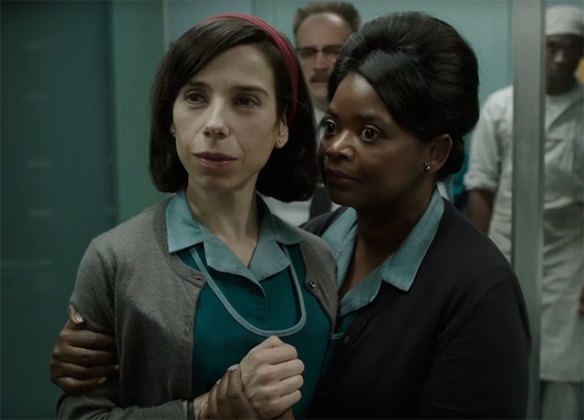 Both Sally Hawkins and Octavia Spencer give amazing performances, and create the heart of the film in the face of all around.