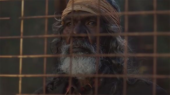 Even in moments of quiet stillness David Gulpilil is a master of his craft