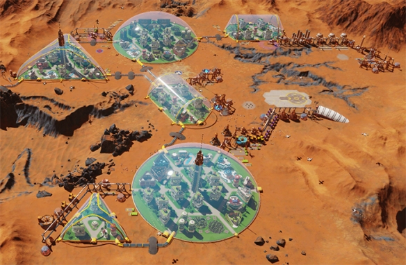 When your colony is up and working and it is actually working it is a wonder to behold. Image Credit: Haemimont Games