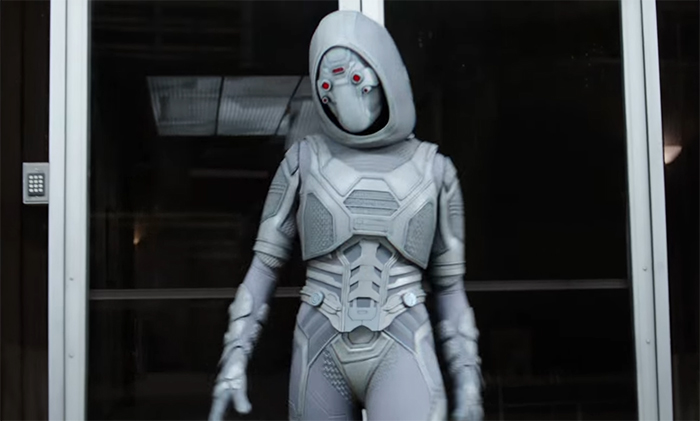 As far as opponents go, Ghost has a really interesting design and power set, and is wonderfully acted by Hannah John-Kamen. Image credit: Marvel/Disney