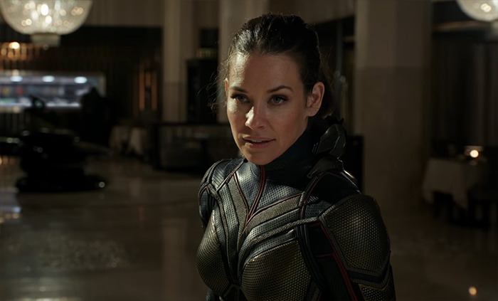 Evangeline Lilly has a much more expanded role as Hope/Wasp and the film is much better for it. Image Credit: Marvel/Disney