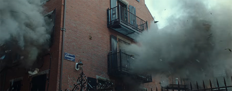 A House explodes