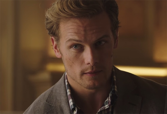 Sam Heughan giving some serious eyebrow here.