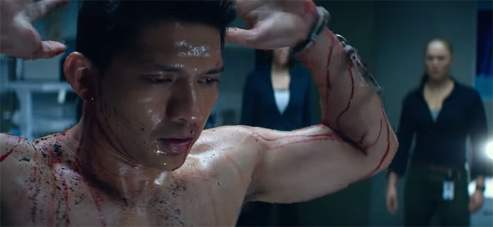 So many of the cast like Iko Uwais are just wasted in this film.  Image Credit STX Entertainment