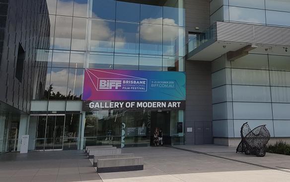 The GOMA (Gallery of Modern Art) entrance. Brisbane in Spring. Image Credit: Brian MacNamara