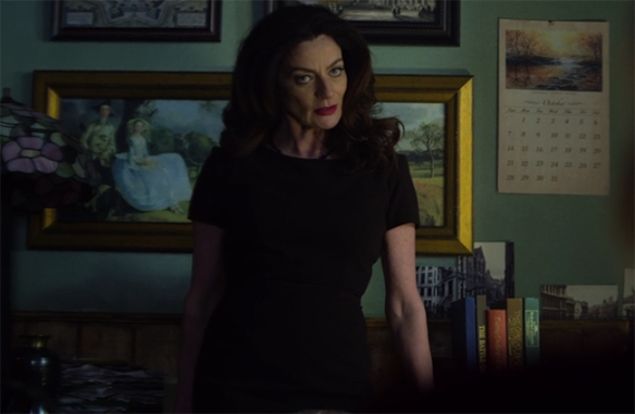 Oh Michelle Gomez, is there nothing you can't do. Image Credit: Netflix