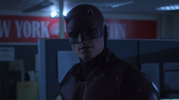 This is a fascinating new take on Bullseye. Daredevil. Image Credit Marvel/Netflix