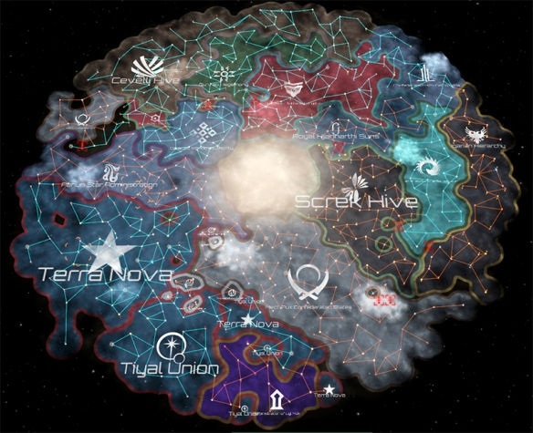 Do you win the game through peaceful federation building, or violently conquering the galaxy, well the choice is yours . Image Credit: Paradox Interactive