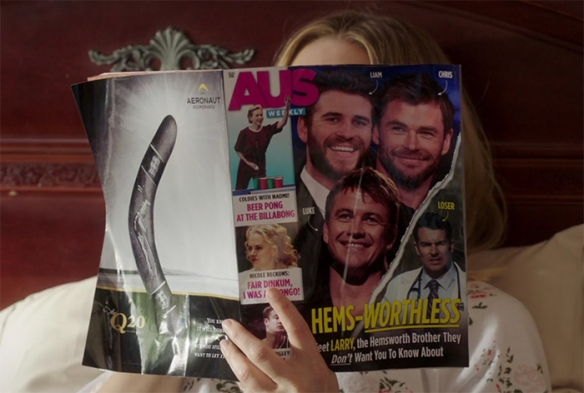 Okay, well you might not be able to do an Australian accent, you you absolutely nailed trashy Australian gossip magazines. Image Credit: NBC/Netflix