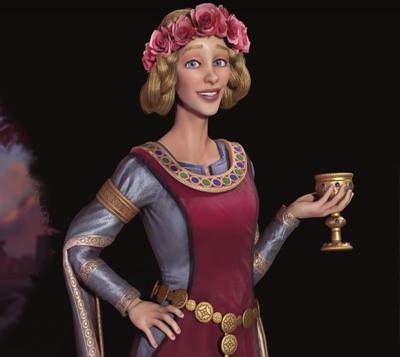 Eleanor of Aquitaine leader of England in Civilisation 6 Gathering Storm