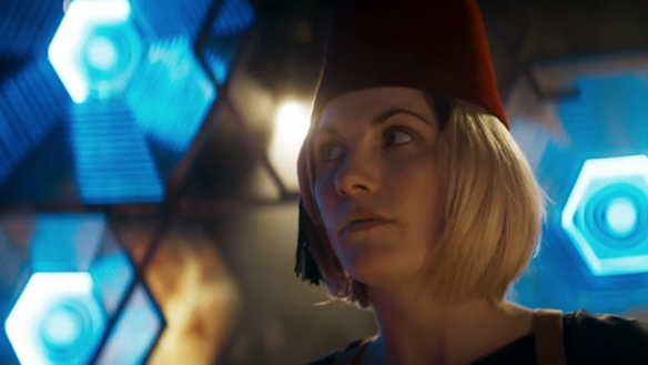 I do love a good fez. Kerblam! Image Credit: BBC