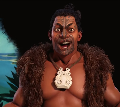 Kupe of the Maori in Civilization 6 Gathering Storm. Image Credit: Firaxis Games