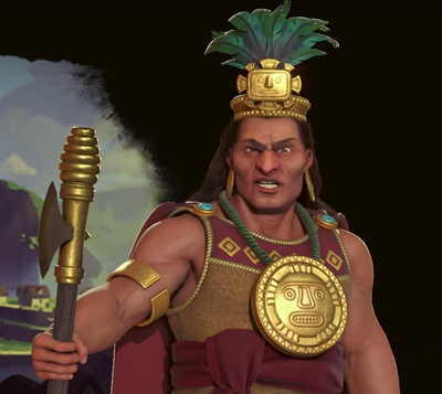 Pachacuti of the Inca in Civilization 6 Gathering Storm. Image Credit: Firaxis Games