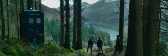 Doctor Who: It Takes You Away looking over a Fjord.  Image Credit: BBC