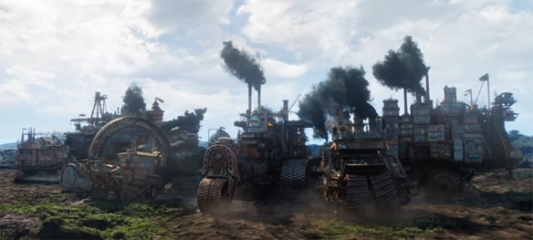 There is a wonderful attention to detail in the creation of the world in Mortal Engines. Image Credit: Universal.