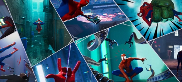This film incorporates the comic elements into the movies with such grace.  Spider-Man: Into the Spider-Verse. Image Credit: Sony/Marvel