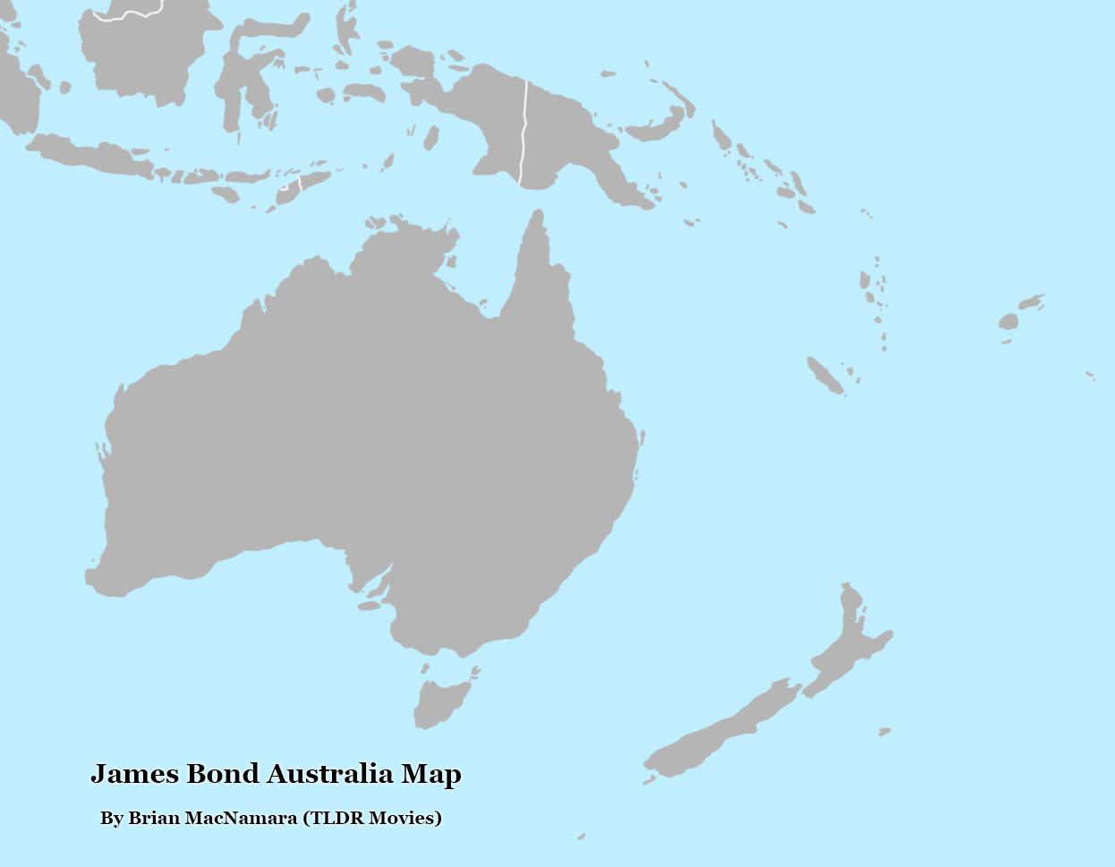 James Bond Australia Map.