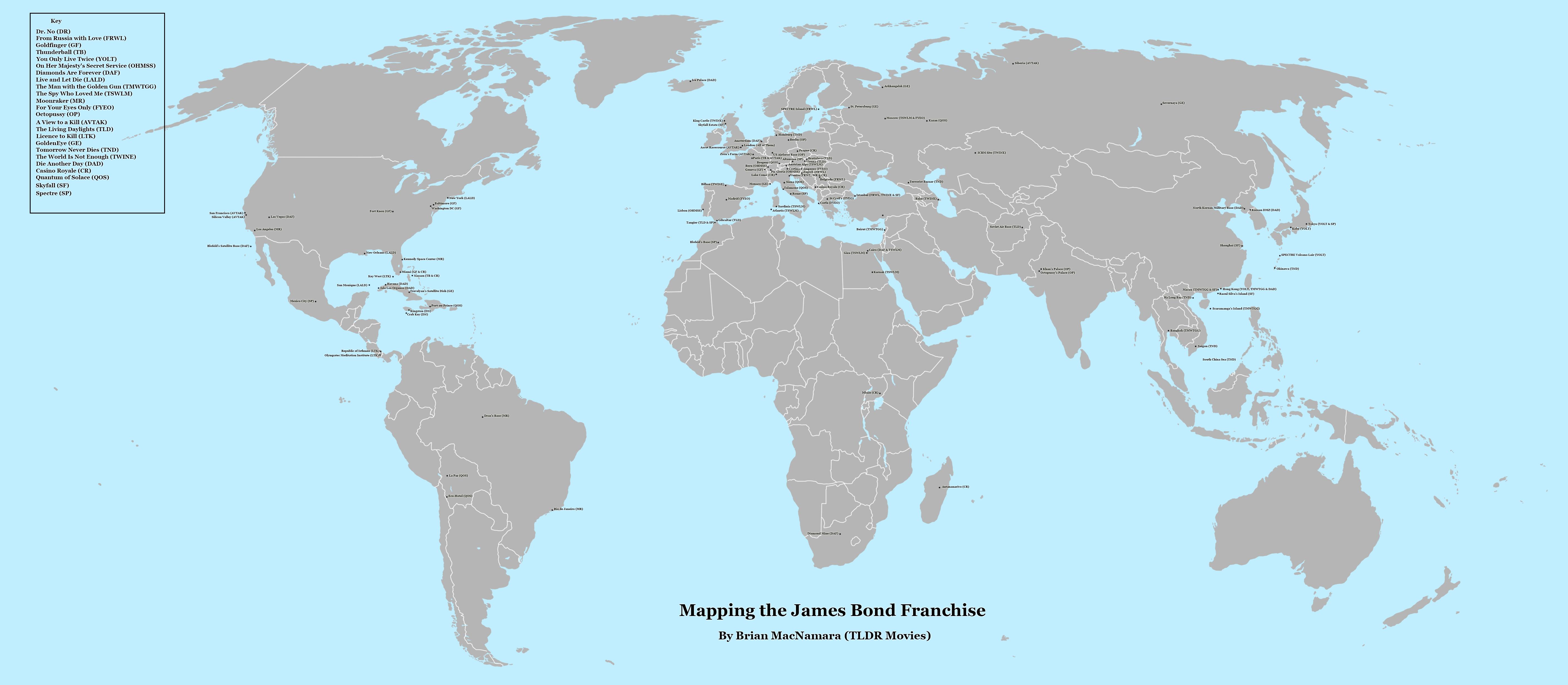 James Bond Map.