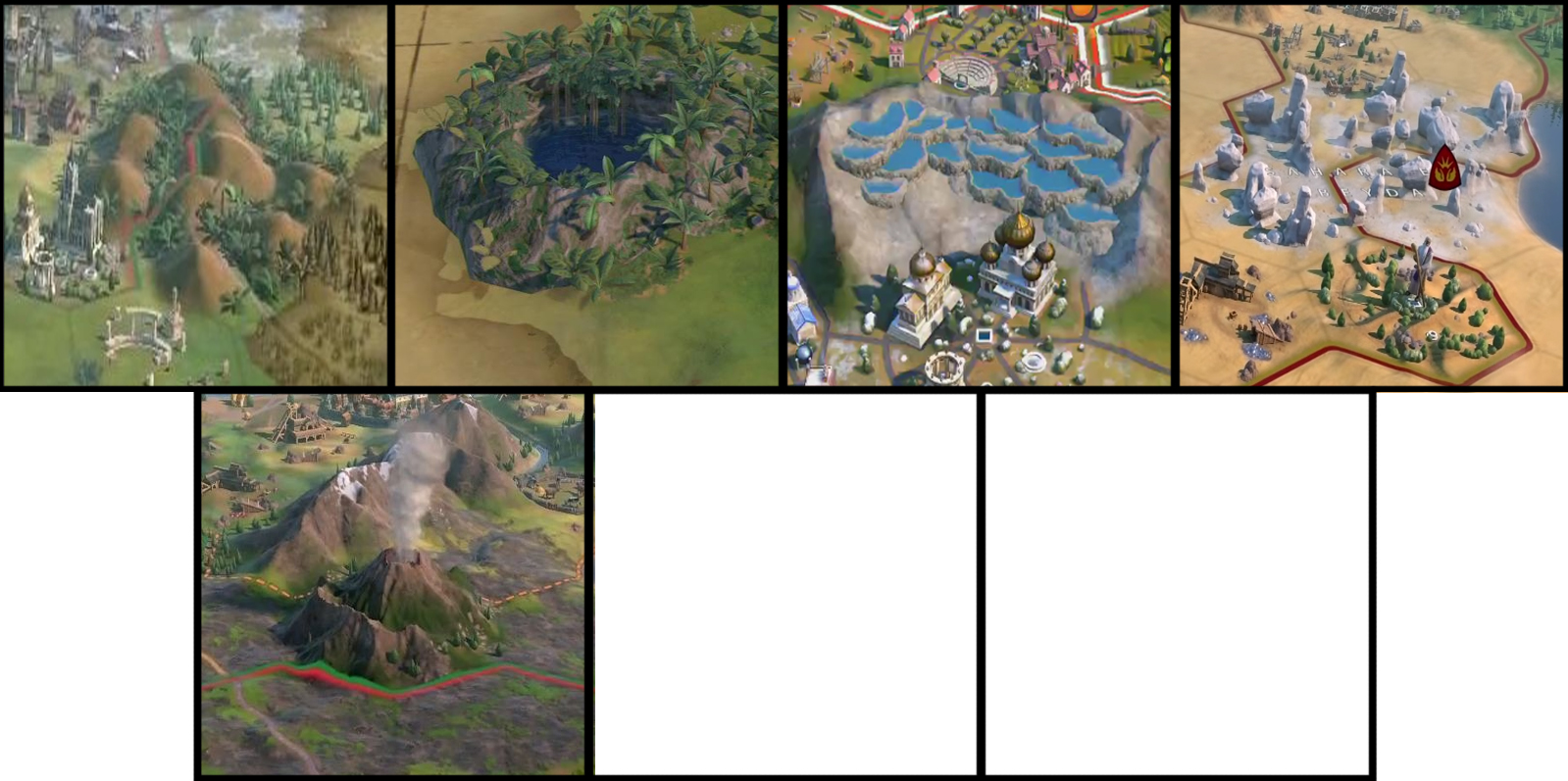 Natural Wonders in Civ 6 Gathering Storm