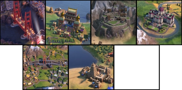 World Wonders of Civ 6 Gathering Storm. Image Credit Firaxis