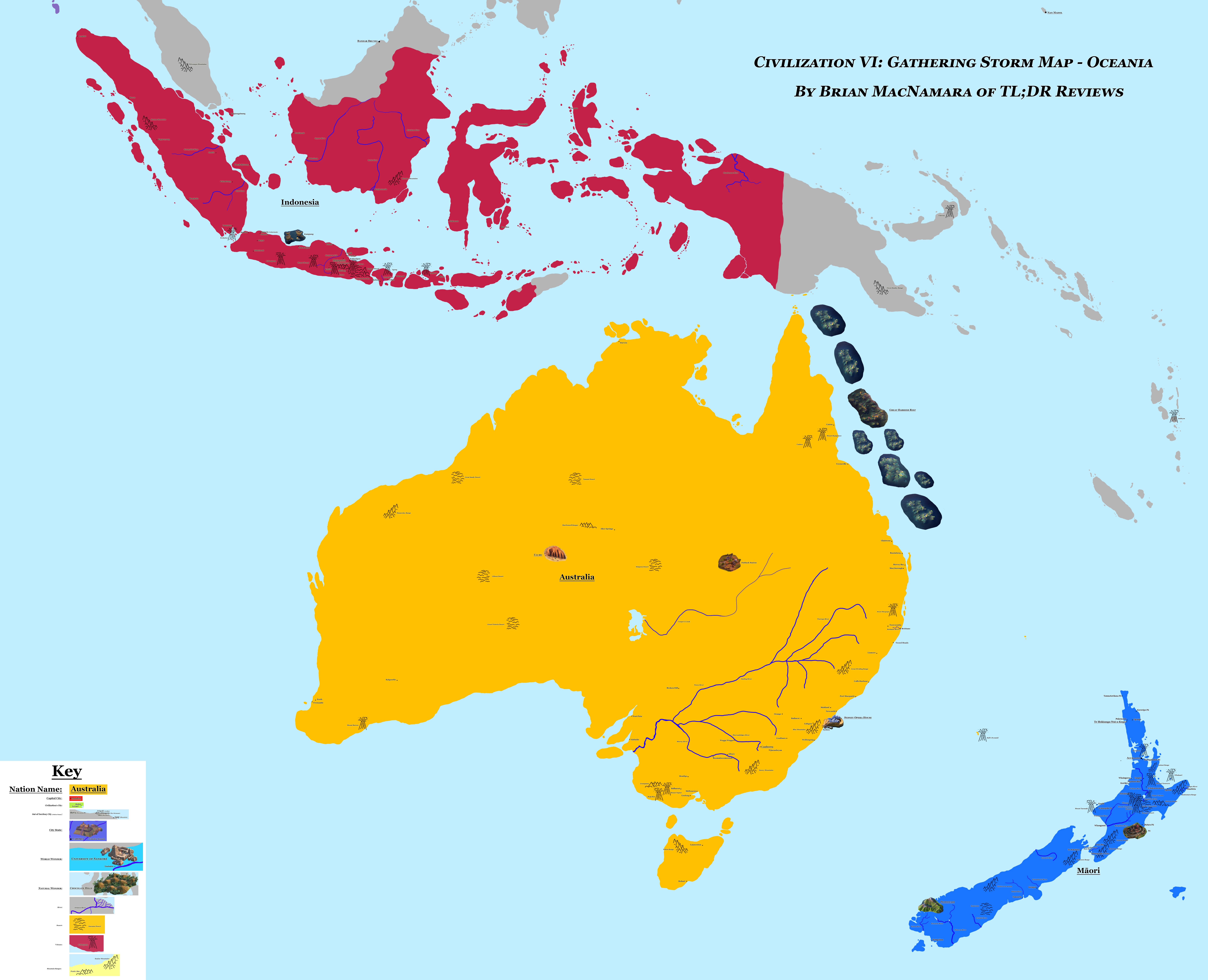 Oceania in Civilization VI: Gathering Storm.