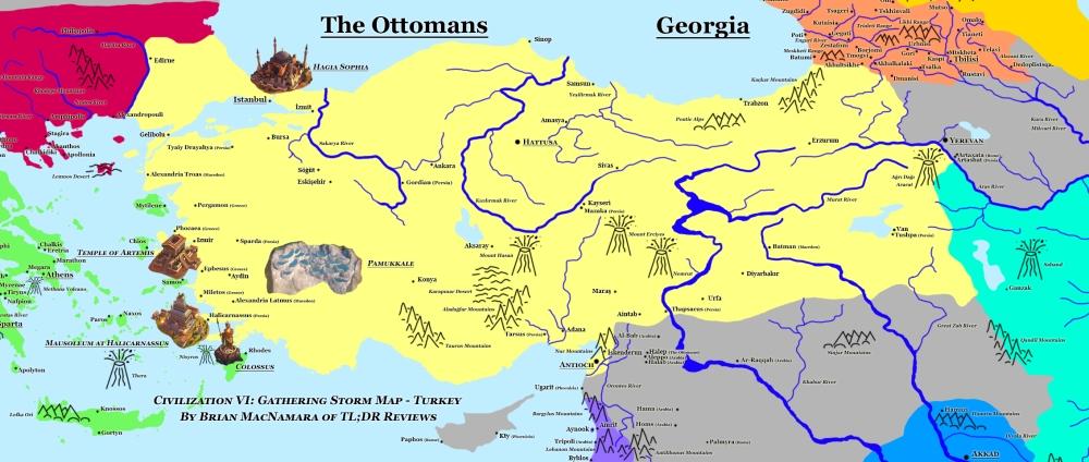 Turkey in Civilization VI: Gathering Storm.