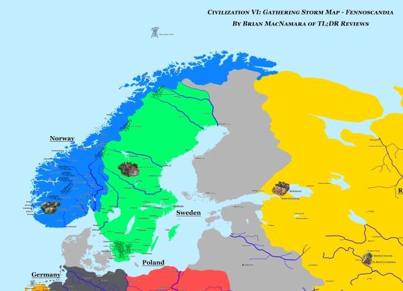 Fennoscandia in Civilization VI Gathering Storm